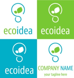 Logo ecologic idea icon vector