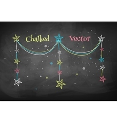 Christmas garland with stars vector