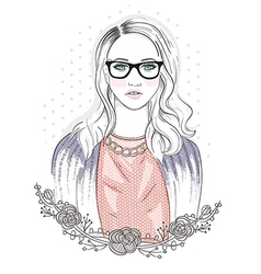Young fashion girl vector
