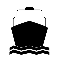 Transportation design boat icon flat and vector