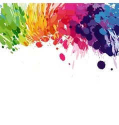 Abstract background of colored splashes blots vector image vector image