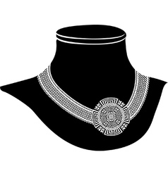 Ancient necklace vector
