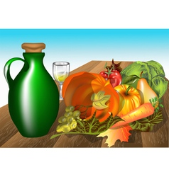 Autumn table vector