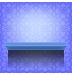 Blue wall shelf vector