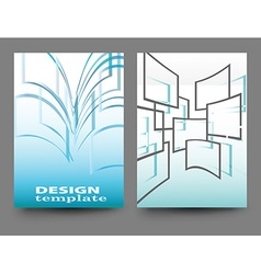brochure flyer design vector image vector image