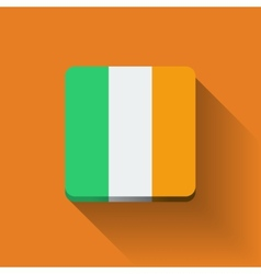 Button with flag of ireland vector