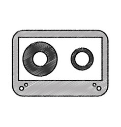 cassette old isolated icon vector image