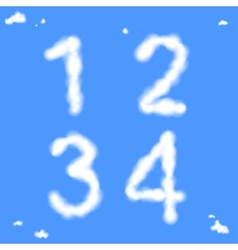 Cloud Numbers vector image vector image