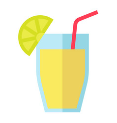 cocktail flat icon food and drink vector image