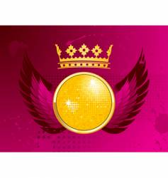 disco party shield vector image