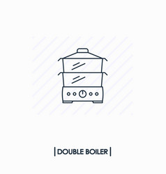 double boiler outline icon isolated vector image vector image