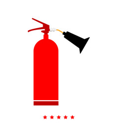 fire extinguisher it is icon vector image