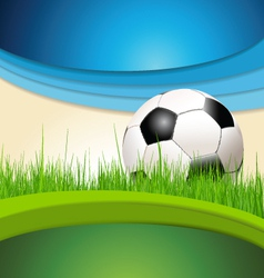 Green and blue soccer background vector image