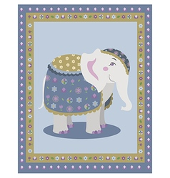 Indian elephant posing vector