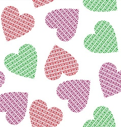 Knitted hearts vector