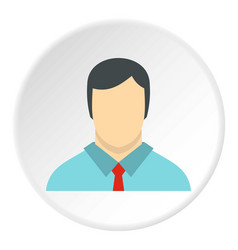 Male avatar with shirt and tie icon circle vector