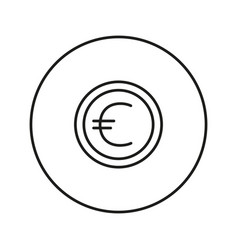 Money sign coin euro vector