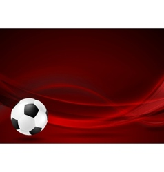 Red wavy football background vector image vector image