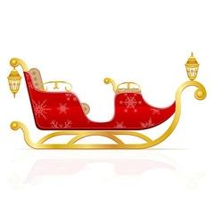 Santa claus sleigh 01 vector