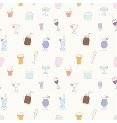 Seamless of alcohol cocktails and drink vector image