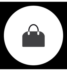 simple ladies handbag isolated black icon eps10 vector image vector image