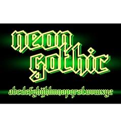 Neon gothic 01 vector