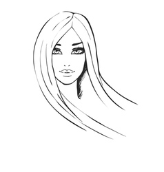 Portrait of beautiful fashionable girl vector