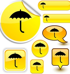 Umbrella yellow signs vector