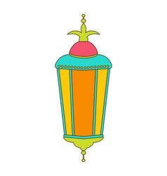 Arabic Colorful Lamp for Ramadan Kareem vector image