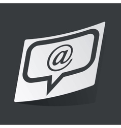 Monochrome e-mail message sticker vector