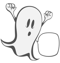 Funny freaky ghost vector