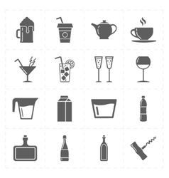 Sixteen modern flat bar icons vector