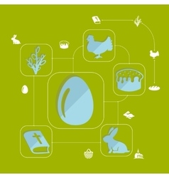 Easter flat infographic vector