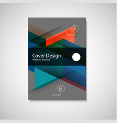 abstract business flyer design template in vector image