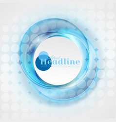 Abstract shiny blue swirl circles background vector