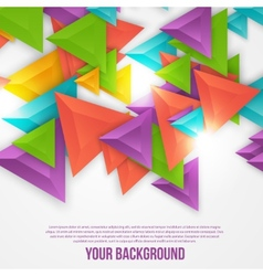 abstract triangles template Object web vector image vector image