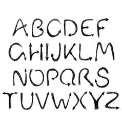 arrow alphabet vector image vector image