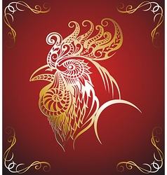 Art stylized rooster vector image vector image