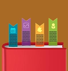 Bookmark info graphic template design vector