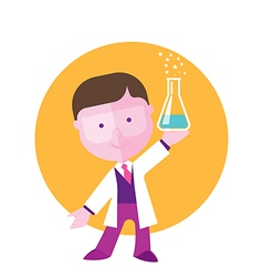 boy student studying chemistry vector image vector image