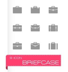 briefcase icon set vector image