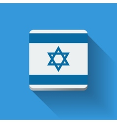 Button with flag of Israel vector image vector image
