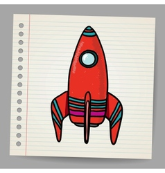 Cartoon space rocket vector image vector image