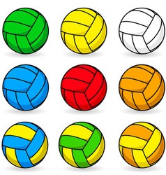 cartoon volleyball vector image
