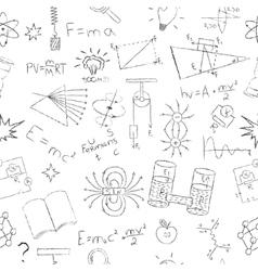 Chalk drawing effect Physics formulas lab vector image vector image