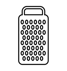 Cheese grater isolated icon design vector