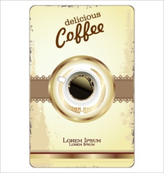 Coffee card template vector image vector image