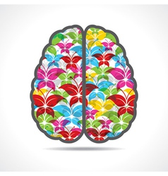 Colorful butterfly make a mind or brain vector image