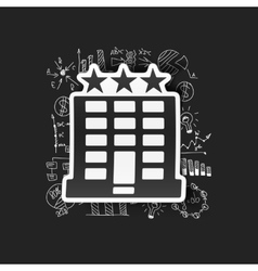 Drawing business formulas hotel vector