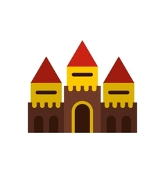 Fairy tale castle icon flat style vector